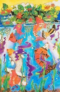 Koi Fish Pond 2009 Limited Edition Print - Linnea Pergola