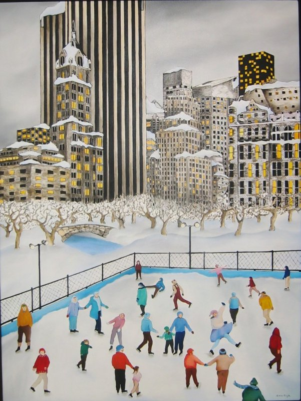 Winter in Central Park 1990 58x45