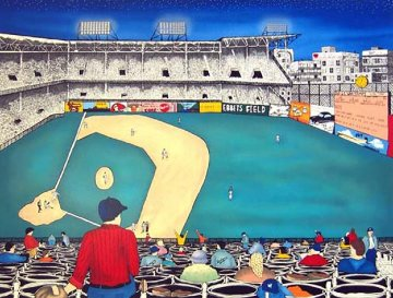 Old Ball Game 1991 Limited Edition Print - Linnea Pergola