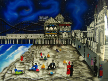 Seaside Nights, Northern Lights 1990 Limited Edition Print - Linnea Pergola