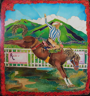 Rodeo 33x31 Original Painting - Linnea Pergola