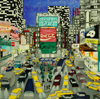 Sign of the Times, Times Square 1990 Limited Edition Print - Linnea Pergola