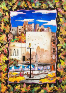 Fall in NYC 52x42 Original Painting - Linnea Pergola