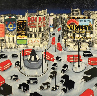 Piccadilly Square AP 1990 Limited Edition Print - Linnea Pergola