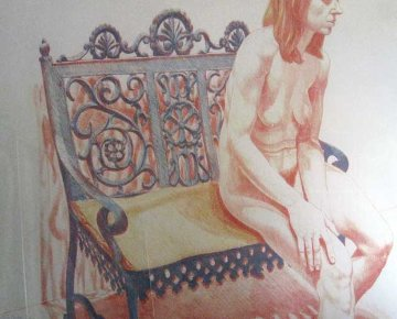 Girl on Iron Bench 1974 Limited Edition Print - Philip Pearlstein