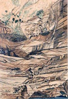 Mummy Cave Ruins At Canyon De Chelly 1980 Limited Edition Print - Philip Pearlstein