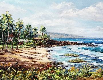 Mama's Beach 2005 25x29 Maui Original Painting - Sue Perry
