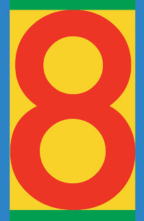 Number 8-2 2013 Limited Edition Print - Peter Blake