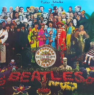 The Beatles Sgt. Pepper\'s Lonely Hearts Club Band LP (Signed) 1990 Works on Paper (not prints) - Peter Blake