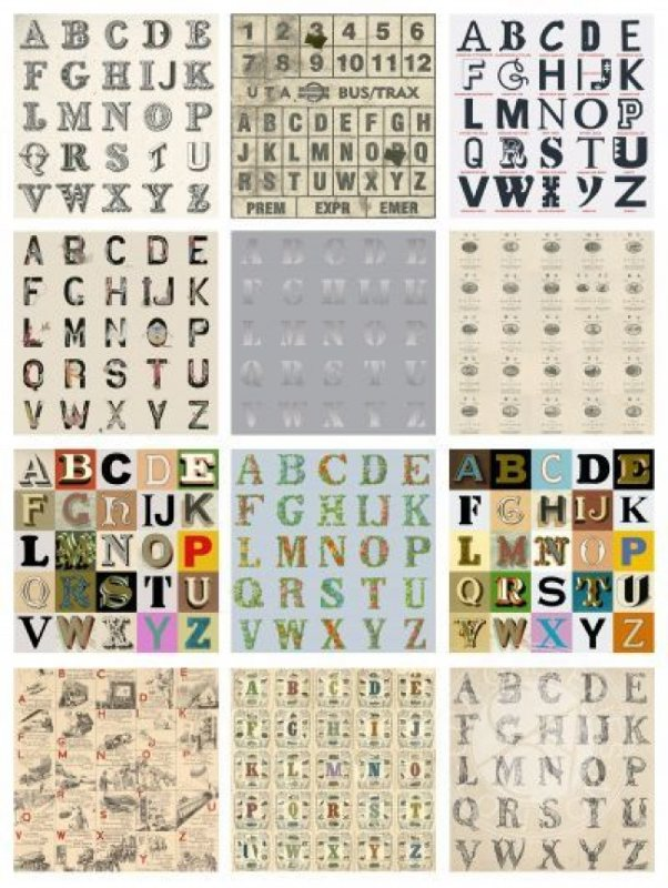 Appropriated Alphabets Portfolio of 12