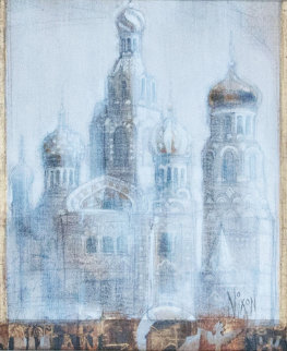 Morning, St. Petersburg 12x19 Original Painting - Peter Nixon
