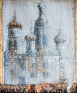 Evening St Petersburg, Russia 2009 24x22 Original Painting - Peter Nixon