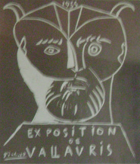 Exhibition Vallauris Poster 1955 Limited Edition Print - Pablo Picasso