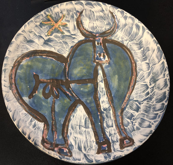 Untitled Ceramic Dish 1950 8 in