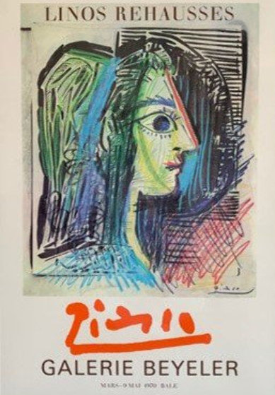 "Original Exhibition Poster For ""Picasso: Enhanced Linocuts 1970"