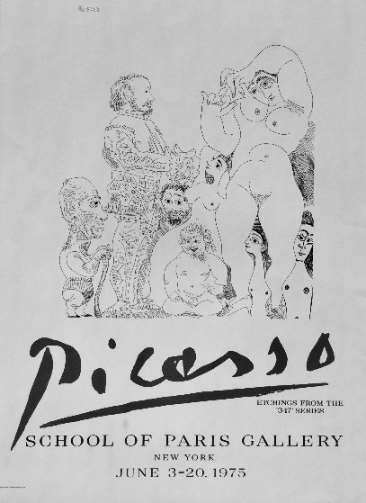 School of Paris Gallery Poster 1975 by Pablo Picasso