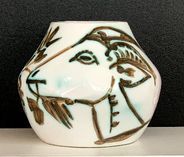 Vase With Goats Clay Sculpture 1952 9 in Sculpture - Pablo Picasso