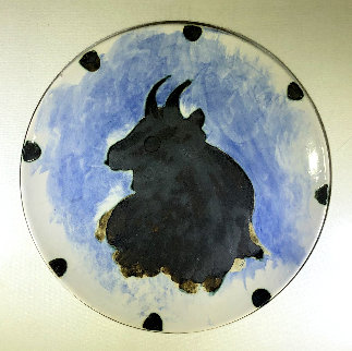 Toros Earthenware Plate 8 in Sculpture - Pablo Picasso