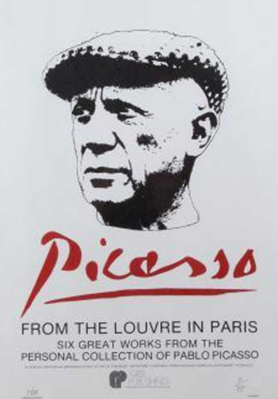 Picasso Poster From the Louvre  in Paris