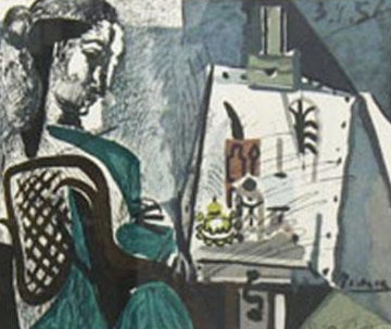 Femme Dans L'atelier  Limited Edition Print -  Picasso Estate Signed Editions