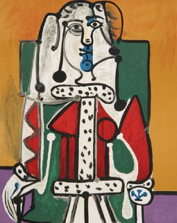 Femme Assise a La Robe D'hermine Limited Edition Print -  Picasso Estate Signed Editions