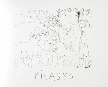 Chevalier Picador Dans L' Arene  Limited Edition Print -  Picasso Estate Signed Editions