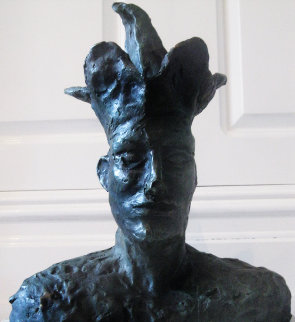 Head of a Jester Bronze Sculpture 1980 15 in Sculpture -  Picasso Estate Signed Editions