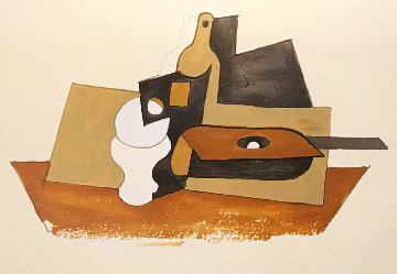 Guitare Verre Et Bouteille  Limited Edition Print -  Picasso Estate Signed Editions
