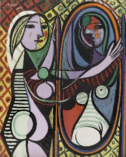 Woman in Mirror Limited Edition Print -  Picasso Estate Signed Editions