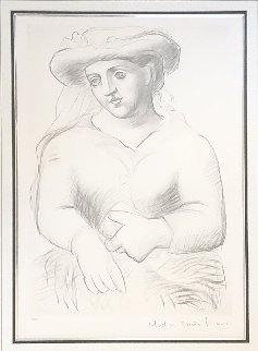 Femme Au Chapeau Lissant in Livre Or Limited Edition Print -  Picasso Estate Signed Editions