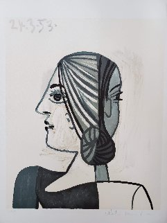 Tete De Femme Limited Edition Print -  Picasso Estate Signed Editions