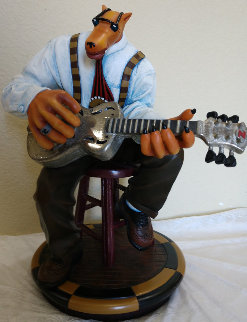Bluesman Resin Sculpture 1995 14 in Sculpture - Markus Pierson