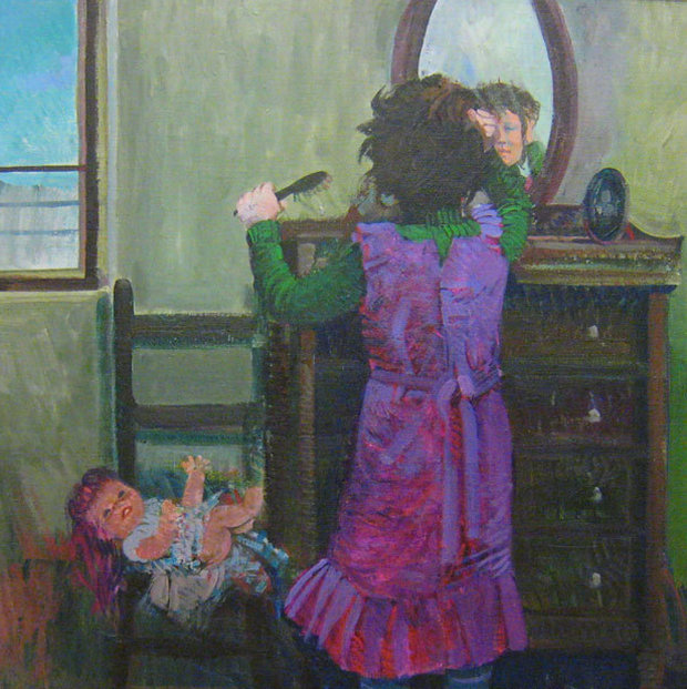 Girl in the Mirror 1976 23x23