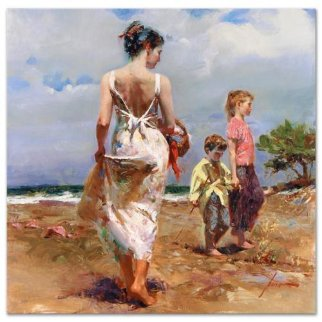 Mediterranean Breeze Embellished Limited Edition Print -  Pino