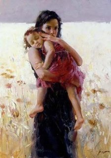 Maternal Instincts Embellished Limited Edition Print -  Pino