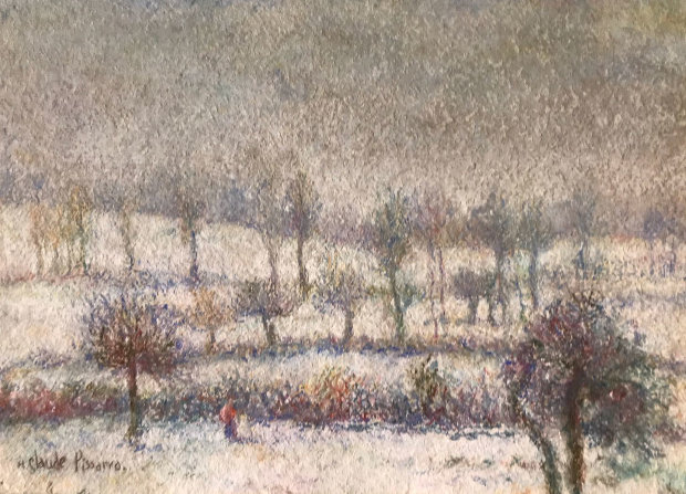 l'Hiver a Athis Pastel 1980 10x15