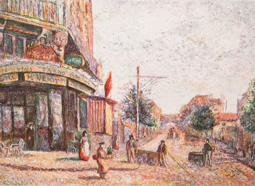 Avenue of the Street Vendor (State I) Limited Edition Print - H. Claude Pissarro