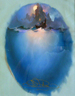 Study For Amaukua And the Ancient Voyagers 8x7 1993 Original Painting - John Pitre