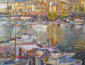 Boats By the Dock 1998 Limited Edition Print - Henri Plisson