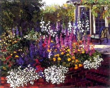Red Brick Garden PP Limited Edition Print - John Powell