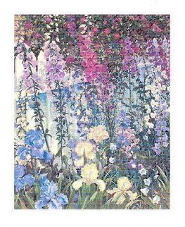 Foxgloves and Irises 1994 Limited Edition Print - John Powell