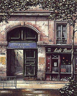 Reminiscences Suite: La Cour De  Commerce , Cafe Paul,  Le Bateau Lavoir  1996 Limited Edition Print - Thomas Pradzynski