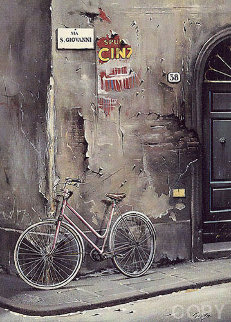 Un Bicyclotte A Florence 1991 Limited Edition Print - Thomas Pradzynski
