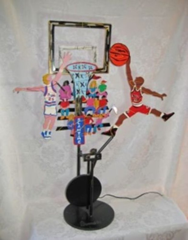 It's Slam Time - Bulls and Pistons Kinetic Sculpture  1992 39 in