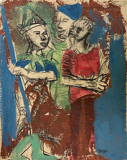 Boys 1950 22x17 Works on Paper (not prints) - Josef Presser