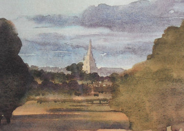 Tetbury Church From Highgrove House 2000 Limited Edition Print by  Prince Charles