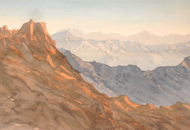Over Looking Wadi Arkam, Kingdom of Saudi Arabia 2000 Limited Edition Print by  Prince Charles