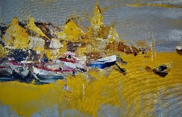 Barfleur 2016 25x32 Original Painting - Angelica Privalihin