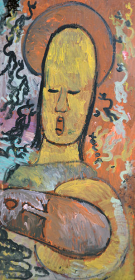 Untitled Painting 1990 95x48 Mural