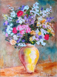 White Bouquet 2006 50x40 Original Painting - Alicia Quaini